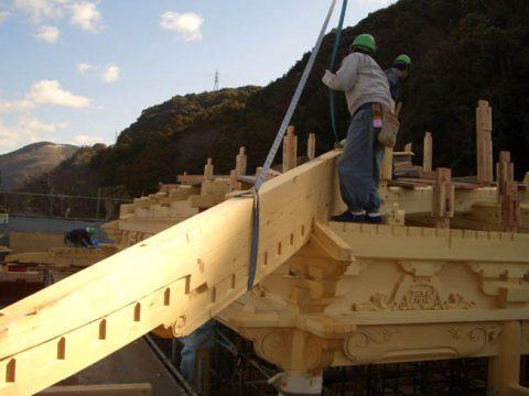 立柱から上棟まで(木工事)-13