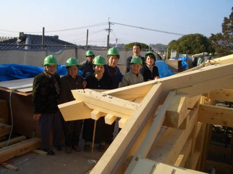 立柱から上棟まで(木工事)-18