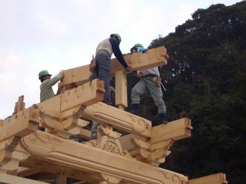 立柱から上棟まで(木工事)-20