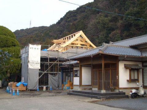 立柱から上棟まで(木工事)-23