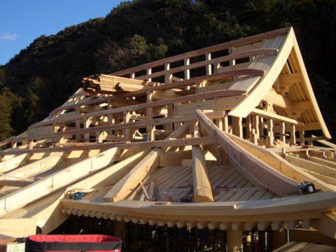 立柱から上棟まで(木工事)-24