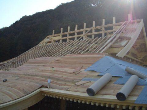 立柱から上棟まで(木工事)-25