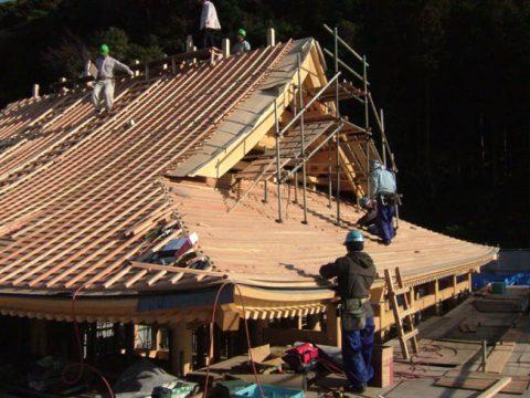 立柱から上棟まで(木工事)-26