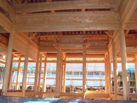 立柱から上棟まで(木工事)-27