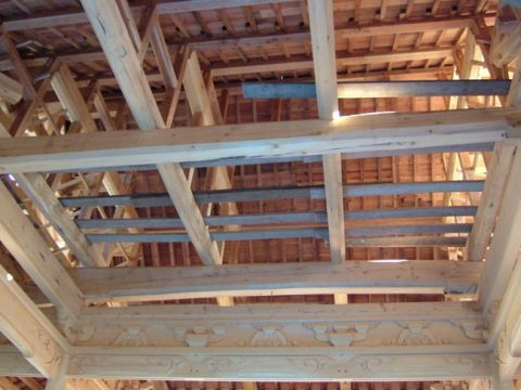 立柱から上棟まで(木工事)-28