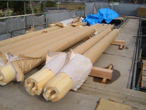 立柱から上棟まで(木工事)-04