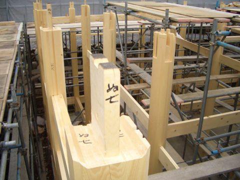 立柱から上棟まで(木工事)-05
