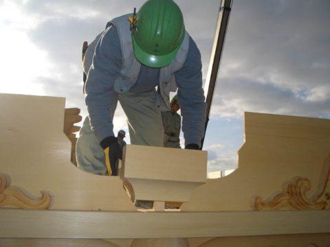 立柱から上棟まで(木工事)-08